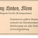 Hintzen Kalender für das Kleverland 1952