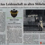 NRZ 21 Dezember 2012 Klever Schätze Serie: Giesen Restaurator & Antiquitäten
