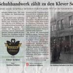 NRZ 5 Dezember 2012 Klever Schätze Serie: Schuhhaus Verfondern